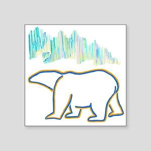 POLAR BEAR AND NORTHERN LIGHTS Sticker