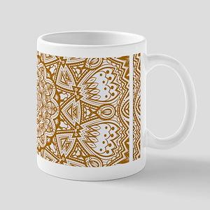 Orange Mediterranean Tile Pattern Mug