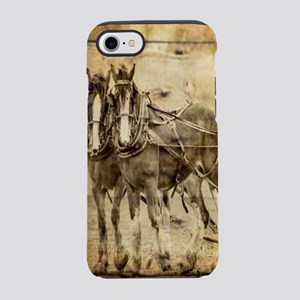 western country farm horse iPhone 8/7 Tough Case