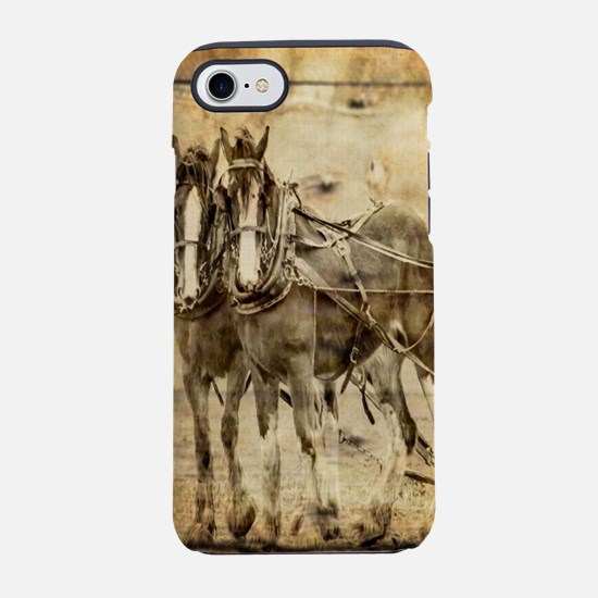 western country farm horse iPhone 8/7 Tough Case