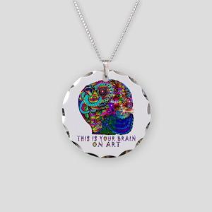 ART BRAIN Necklace Circle Charm