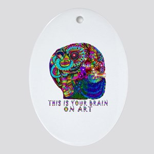 ART BRAIN Oval Ornament
