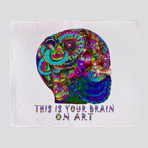 ART BRAIN Throw Blanket