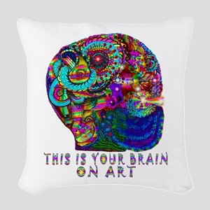 ART BRAIN Woven Throw Pillow