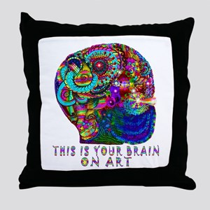 ART BRAIN Throw Pillow