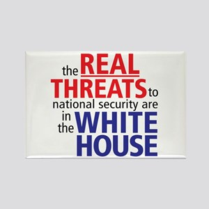 The REAL Threats... Rectangle Magnet