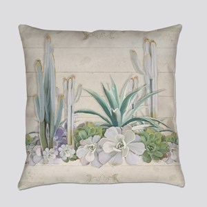 Western Boho Desert Cactus Succule Everyday Pillow