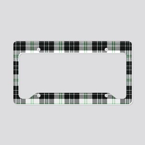 Rustic Plaid Pattern: Green License Plate Holder