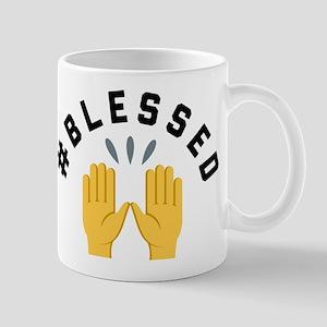 Emoji Hashtag Blessed 11 oz Ceramic Mug