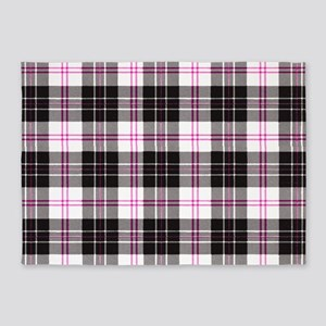 Rustic Plaid Pattern: Pink 5'x7'Area Rug
