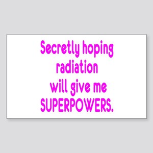 Funny Cancer Radiation Superpowers Pink Sticker