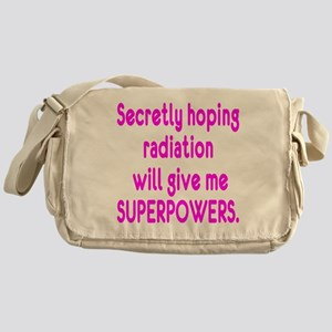 Funny Cancer Radiation Superpowers Pink Messenger