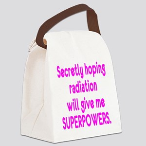 Funny Cancer Radiation Superpowers Pink Canvas Lun