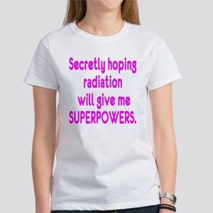Funny Cancer Radiation Superpowers Pink T-Shirt