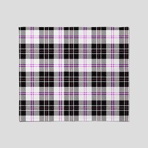 Rustic Plaid Pattern: Purple Throw Blanket