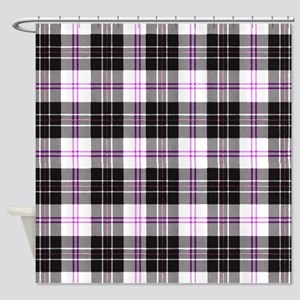 Rustic Plaid Pattern: Purple Shower Curtain