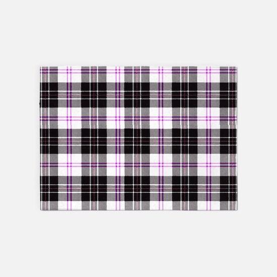 Rustic Plaid Pattern: Purple 5'x7'Area Rug