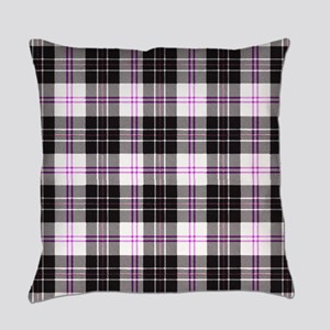 Rustic Plaid Pattern: Purple Everyday Pillow