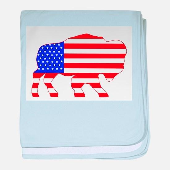 American Buffalo baby blanket