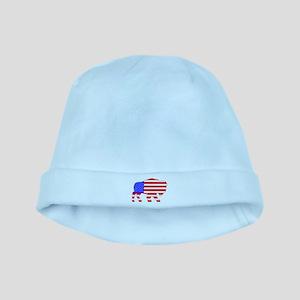 American Buffalo baby hat