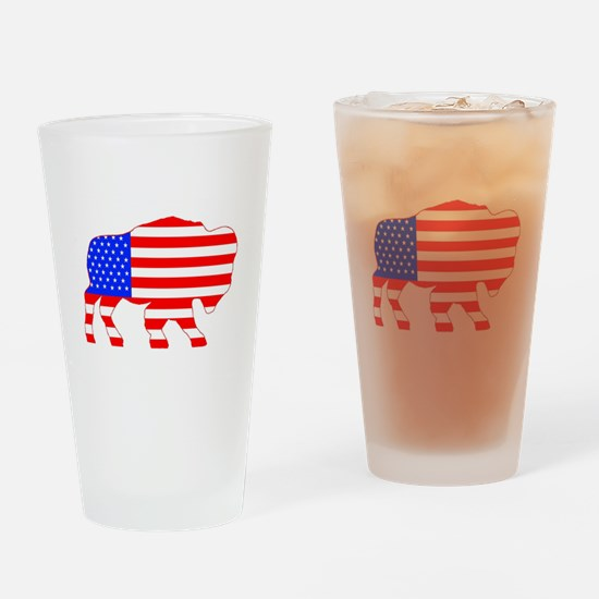 American Buffalo Drinking Glass
