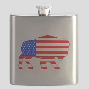 American Buffalo Flask