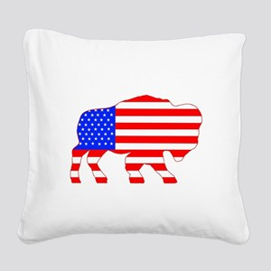 American Buffalo Square Canvas Pillow