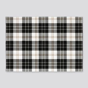 Rustic Plaid Pattern: Brown 5'x7'Area Rug