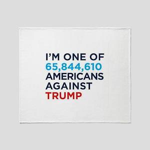 AGAINST TRUMP Throw Blanket