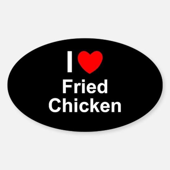 Fried Chicken Sticker (Oval)