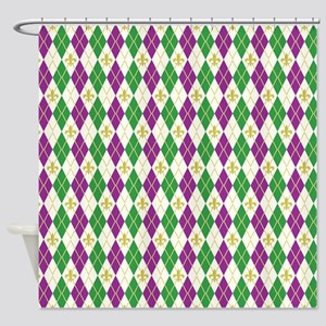 Mardi Gras Argyle Shower Curtain