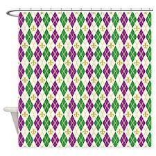 Mardi Gras Argyle Shower Curtain