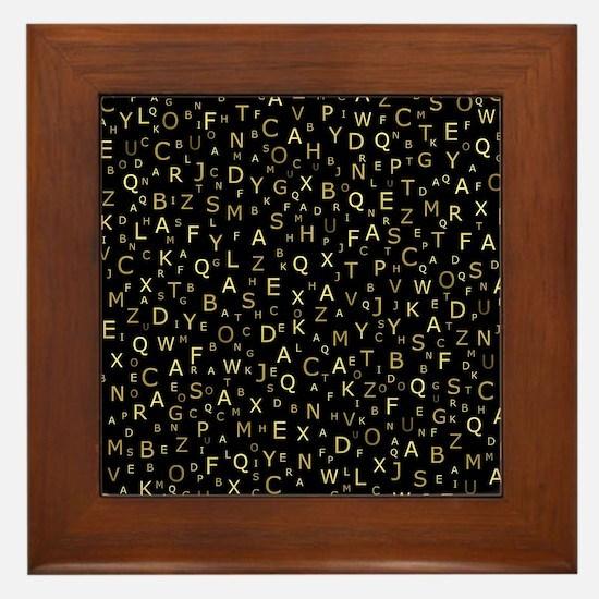Unique Abc Framed Tile