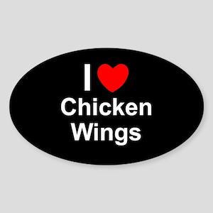 Chicken Wings Sticker (Oval)