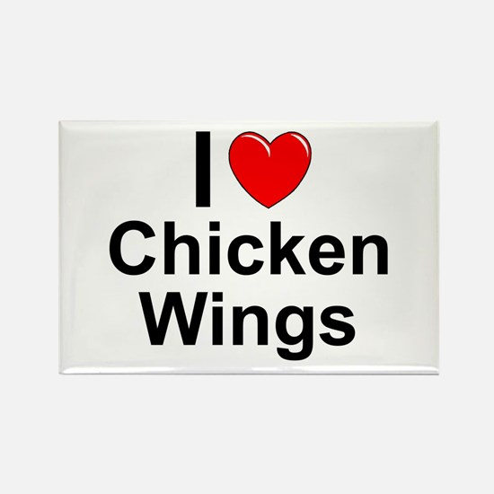 Chicken Wings Rectangle Magnet