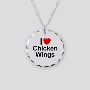 Chicken Wings Necklace Circle Charm