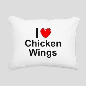 Chicken Wings Rectangular Canvas Pillow