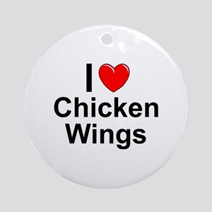 Chicken Wings Round Ornament