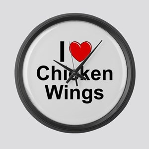 Chicken Wings Large Wall Clock
