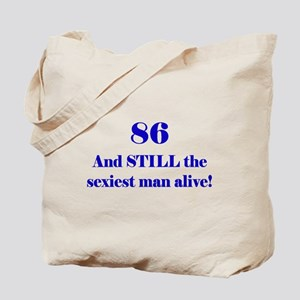 86 Still Sexiest 1C Blue Tote Bag