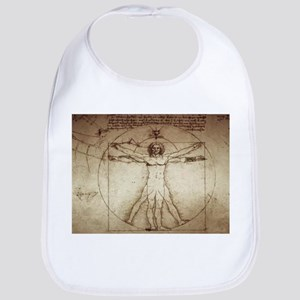 Da Vinci Vitruvian Man Baby Bib