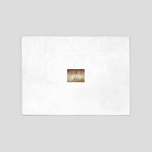 Da Vinci Vitruvian Man 5'x7'Area Rug