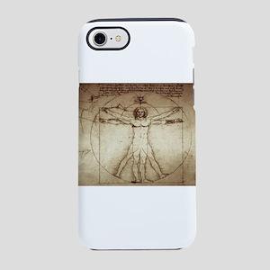 Da Vinci Vitruvian Man iPhone 8/7 Tough Case