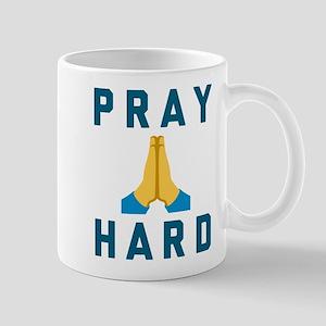 Emoji Pray Hard 11 oz Ceramic Mug