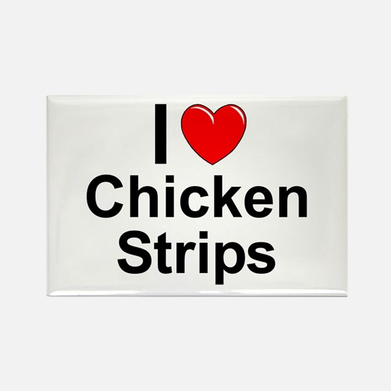 Chicken Strips Rectangle Magnet