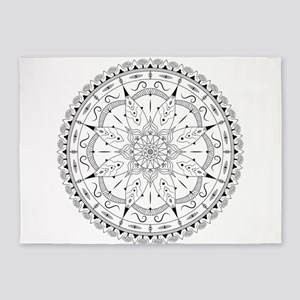 Fashionable oriental mandala design 5'x7'Area Rug