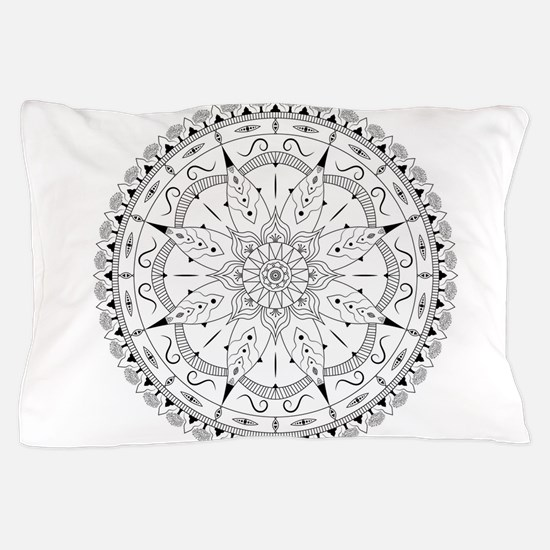 Fashionable oriental mandala design wi Pillow Case