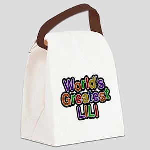 Worlds Greatest Lili Canvas Lunch Bag