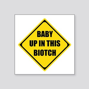 Baby Shower Gifts Presents Biotch Sticker