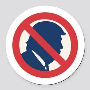 Anti President Trump Round Car Magnet